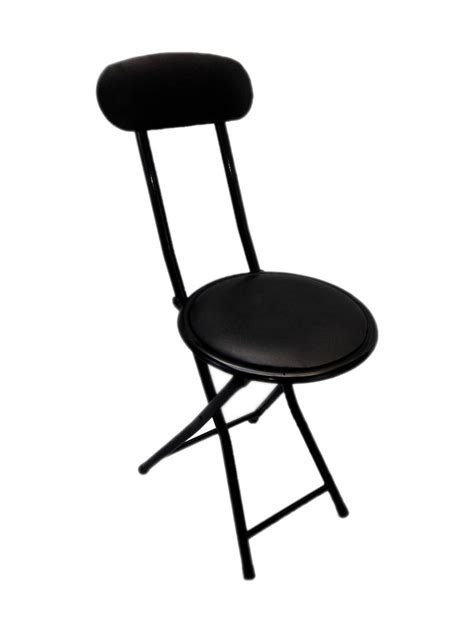 Small Chairs by Small Portable Black Folding Chair Padded Easy Stackable
