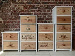 Caisse De Vin En Bois : meubles tiroirs caisses de vin ~ Farleysfitness.com Idées de Décoration