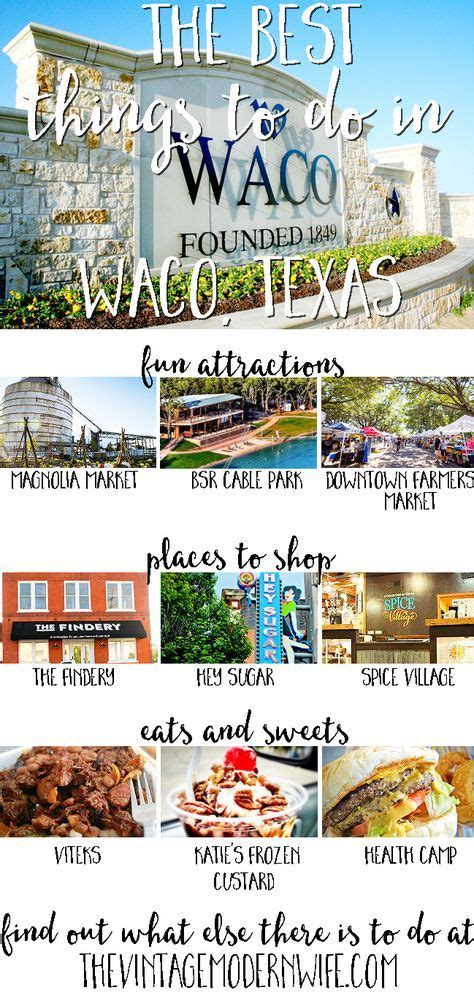 waco texas things vacations attractions travel restaurants tx thevintagemodernwife fun magnolia weekend romantic hiking check near vacation destinations there shopping