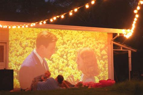 Build A Backyard Movie Theater