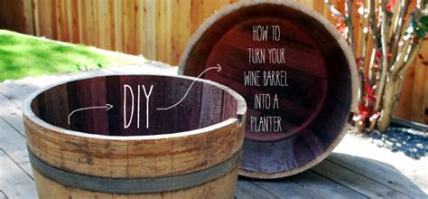 How To Turn Your Wine Barrel Into A Planter