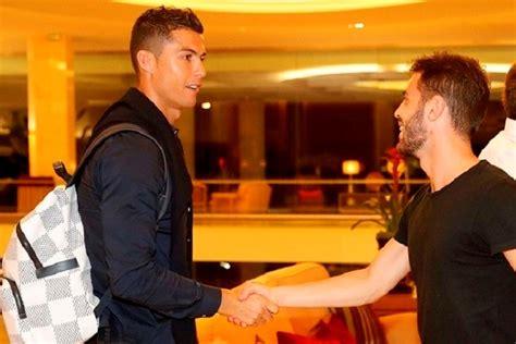ronaldo  welcomed  bernardo silva  arrival