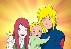 Naruto : Kushina, Naruto And Minato (Colo) by Jimmy-Zesso ...