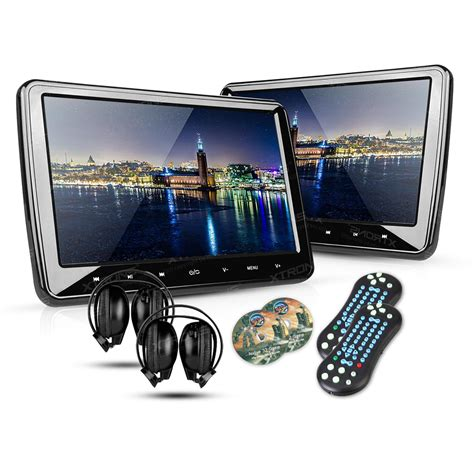dvd player auto 2 10 1 quot portable car headrest dvd player 1024 600 hdmi