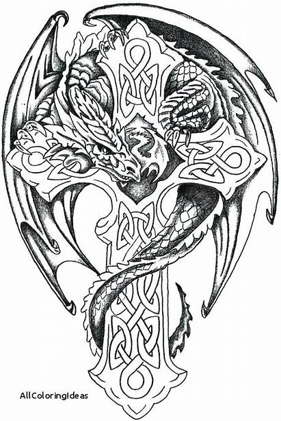 Coloring Tattoo Pages Tattoos Tribal Skull Designs