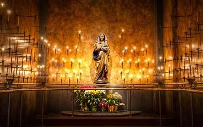 Catholic Church Jesus Background Flowers Hdr Babies