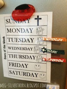 1000+ Images About Kids Learning Days Of The Week & Months Of The Year On Pinterest School