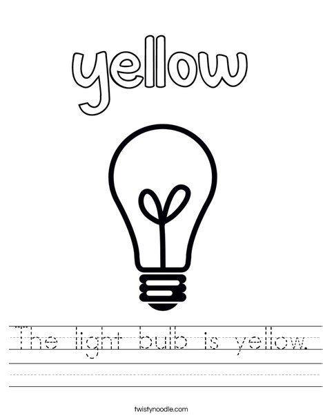 light bulb  yellow worksheet  images
