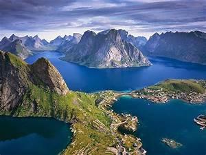 Beautiful, View, Of, The, Height, Lofoten, Islands, Norway