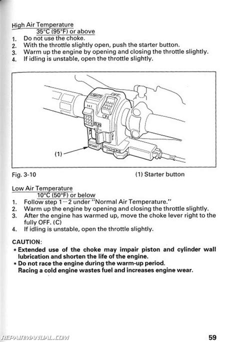 1996 Honda TRX300FW FourTrax 4 X 4 ATV Owners Manual