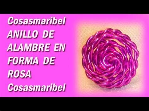 Anillos sortija de alambre en forma de rosa YouTube