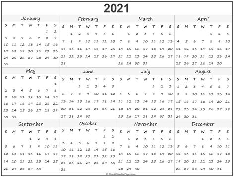 Get Printable 3 Year Calendar 2021 To 2022  Pictures