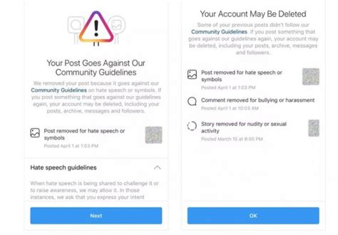 instagram warnung bevor account gesperrt wird