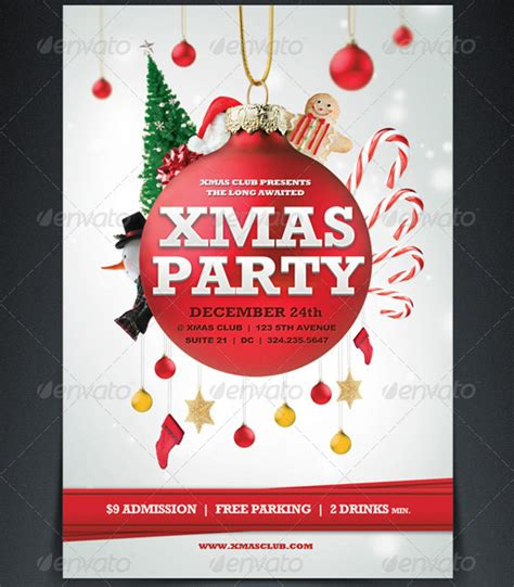 18 free christmas flyer design templates images printable christmas party flyer templates