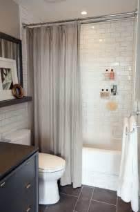 white subway tile and slate floor diy home decor