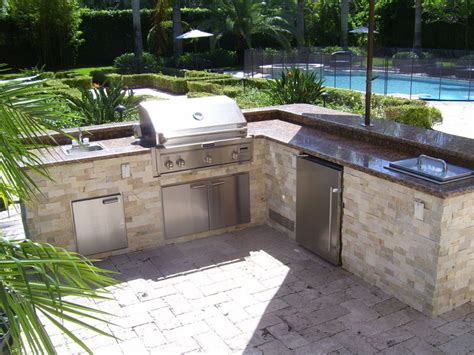 L Shaped Kitchen Designs With Island Pictures - l shaped outdoor kitchen layout