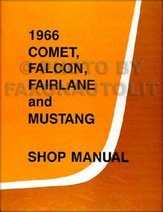 Mercury Comet Shop Manual Cyclone Caliente Capri