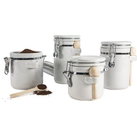 Kitchen Canister Sets Walmart by Anchor Hocking Ceramic 4 Kitchen Canister Set White
