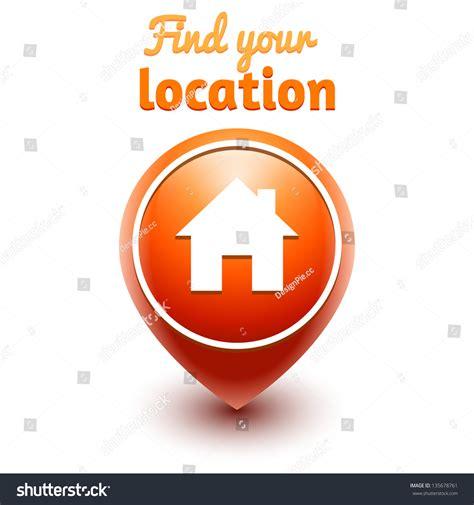 Find Your Location Web Vector Symbol 135678761