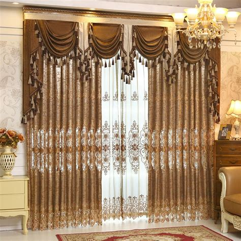 Curtains And Valances For Living Room by 2016 Embroidery Living Room Curtains And Valances Blackout