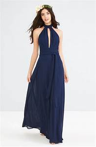 160 best navy blue bridesmaid dresses images on pinterest With navy blue maxi dress for wedding