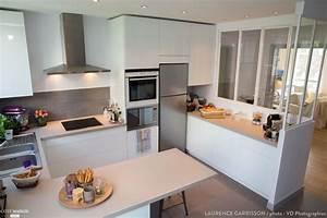 epure et design pour une cuisine verriere a neuilly With wonderful plan maison en u ouvert 9 cuisine avec verriare