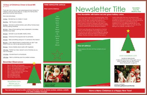 christmas newsletter templates  create printable