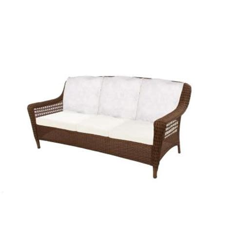 sofa springs home depot hton bay spring haven brown all weather wicker patio