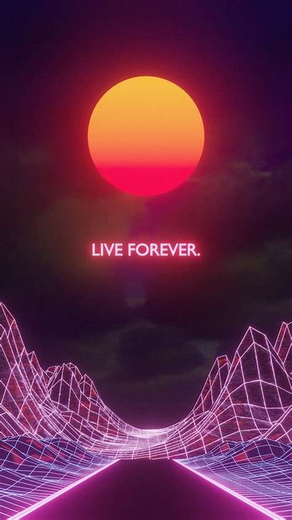 Aesthetic Vaporwave Phone Neon Wallpapers Laptop Futuristic