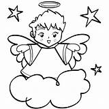 Coloring Angel Pages Printable sketch template