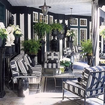 black and white striped outdoor curtains design ideas