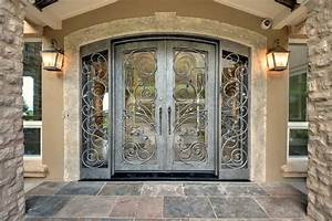 Inspirations Elegant Double Front Doors And Wood Entry ...
