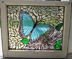 butterfly mosaic window by reflectionsshattered on DeviantArt