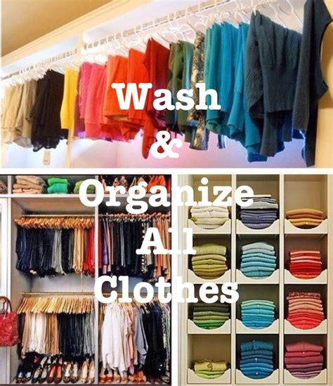 Color Coded Closet by Wash Organize All Clothes Clean Organize My Home