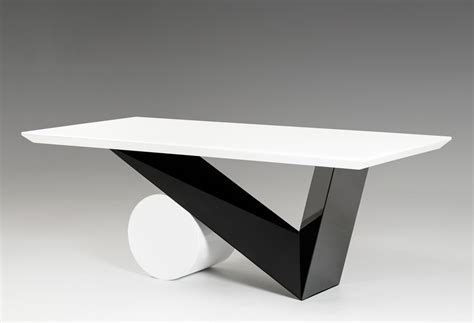 black and white table l bauhaus modern black and white dining table