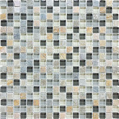 anatolia tile bliss mosaic glass slate blend