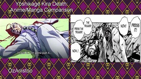 yoshikage kira s death anime manga comparison jojo s