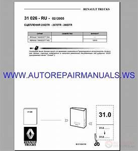 Renault Truck 31-32-35-36 Service Manual 1993-2006