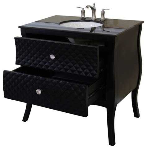 35 4 inch single sink vanity wood black white