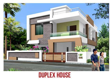 Duplex house elevation images - Homes Floor Plans
