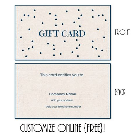 free printable gift card templates that can be customized instant you can add