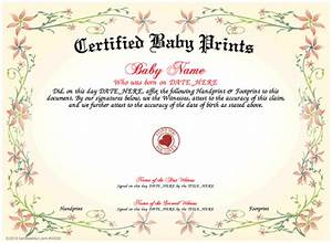 certified baby prints With baby death certificate template