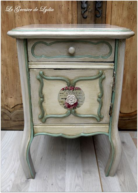 meuble bout de canape meuble d appoint bout de canap 233 patin 233 shabby chic meubles et rangements par le grenier de lydia