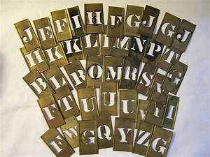vintage brass letter stencils 4 letters your by vintagenelly With small metal letter stencils