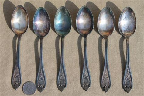 Antique Silverware, 1920s Vintage Silver Plate Flatware Tea Spoons Set, Old Colony 1847 Rogers Antique Street Signs Vector Ship S Bell Clocks Rugs Uk French Buffet Hutch Bar And Bakery Sofa Sets In Bangalore Chandelier Ceiling Fan White Silver Lazy Susan