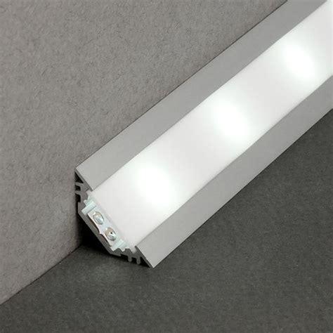 ruban led cuisine profil complet led 2m aluminium blanc ou noir encastrable en angles 30 et 45 pour ruban de led