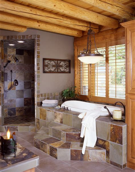Log Home Bathroom Ideas Log Cabin Bathroom Ideas Bathrooms Offices A Two Storey Log Home Log Home And Planning In