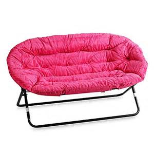 idea nova double saucer chair in pink zebra bed bath
