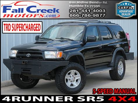 Toyota Humble by Used 1999 Toyota 4runner Sr5 4wd For Sale In Humble