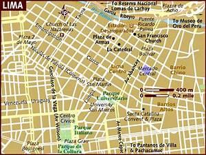Mapa De Calles De Lima  Per U00fa